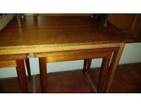 Retro teak wood nest of tables