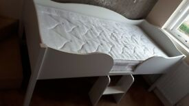 Next white single cabin bed with mattress