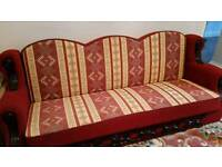 3 SEATER BED SETTEE -RED
