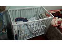 Baby cot 90cm. With mattress