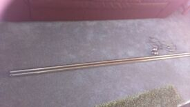 Brushed Chrome curtain pole with fixings
