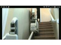 Stannah Stairlift 420 with hanging Tracks