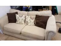 3 seater sofa in beige