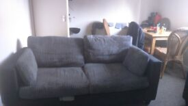 2 seater sofa and a chair, a few marks on the sofa, other than that really good condition. No rips