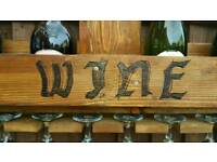 Rustic handmade wine rack. 100% reclaimed wood.