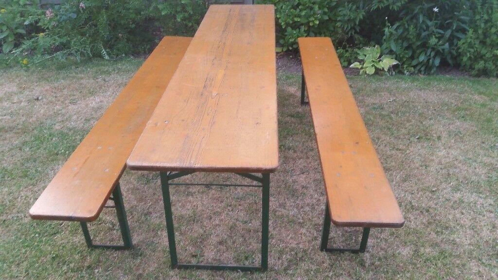 Astonishing Vintage 2 2 Metre Folding German Wooden Beer Garden Patio Evergreenethics Interior Chair Design Evergreenethicsorg