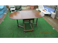OAK DROP LEAF GATE LEGGED TABLE