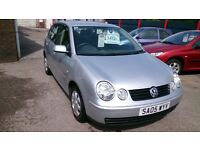 2005 VW POLO 1.2 E IN SILVER 5 DOOR HATCH JAN 2017 MOT 89k WITH F/S/H HAS E/MIRRORS CD CUP HOLDER +