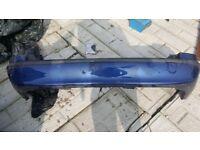 vauxall zafira mk1 rear bumper in blue