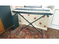 Yamaha PSR - 175 Electric Keyboard + Stand + Collection of Music Instruction Books
