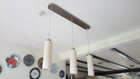 Triple pendant light