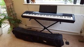 Casio CDP-120 88 Key Scaled Weighted Action Digital Piano w/ Stand, Pedal & Carry Case