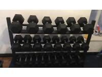 Dumbbells, gym, crossfit