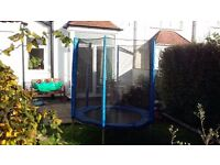 6 foot trampoline and enclosure, less than 3 months old