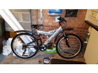 BRITISH-EAGLE TUNDRA MOUNTAIN-BIKE-18-SPEED-FULL-SUSPENSION-FACTORY-GUARDS IMMACULATE