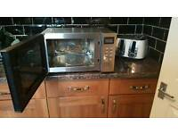 D elongated silver combination microwave nearly new