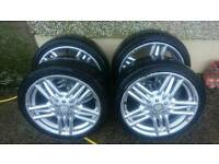 "17"" momo alloys + tyres quick sale"