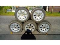 set of 5 alloy wheels