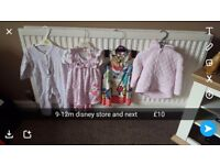 Girls clothes bundle excellent condition size 9-12m