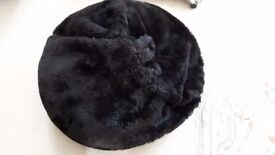 luxury Black fury Bean bag