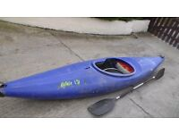 Prijon Invader Kayak. Made in Germany. Good condition airbags footplate paddle. no repairs.