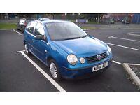 """""""vw polo 1.2 blue 4 door ideal new driver cheap insurance n tax bargain 750.00"""""""