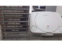 Sony PSOne with Controller and 9x Games
