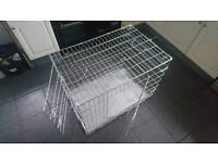 Large metal dog cage as new