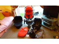 Quinny Moodd Pushchair Travel System inc Carrycot, Maxi Cosi Pebble Car Seat & accessories