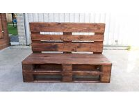 Handmade bench from reclaimed pallets
