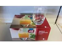 6 piece set glass tumblers kitchenware