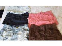 Ladies short skirts,5 items