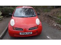 Manual Nisan Micra 1.2 Red 90 on the clock (Just Paint Job Needed To Be Done On Bonnet)