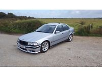 E36 318i Saloon, coilovers, polybushes exhaust etc.