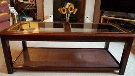 Mahogany coloured coffee table