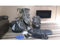 Black Quinny Buzz 3 travel system buggy pram stroller pushchair