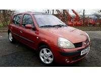 2004 RENAULT CLIO DYNAMIQUE 1.2 16v 5 DOOR - 1 OWNER- 11 MONTHS MOT- NEW BRAKES (PART EX WELCOME)