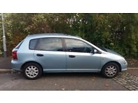 Honda Civic Light Blue. Reduced for quick sale. Great Little Runner!