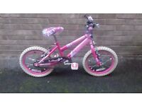 "Raleigh girl bike 18"""