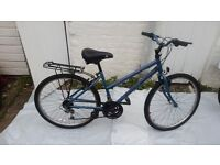 Raleigh Blueridge Bicycle Blue Ladies fully working gaers 15/frame 17/wheels 26