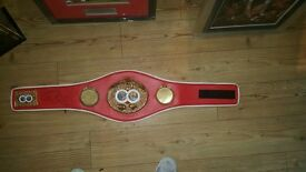 SIGNED ROY JONES JUNIOR FULL SIZE IBF BELT