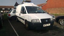 Fiat scudo van white, clean body, brake fault needs fixing