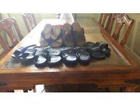 Mens size 7 beachwear sandals / Sliders 6 pairs