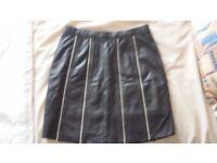 Leather mini skirt size 8/10