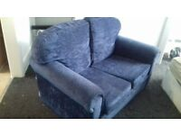 Ocean Blue Two Seater Sofa For Sale