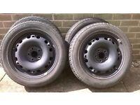"""Set of 4 seat 6L, skoda, vw 15"""" winter steel wheels"""