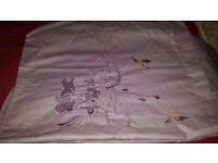 Set of bedding, Purple bed Sheet and Pillow Case x2