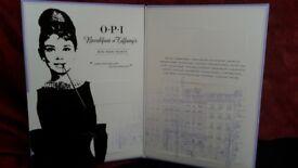 BNIB opi mini Mani month breakfast at Tiffany's collection advent calendar