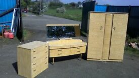 WOW,absolutely stunning 1960s Melamine bedroom suite in fabulous condition