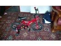 Boys bike aged 3-6 for sale £30.00 ono